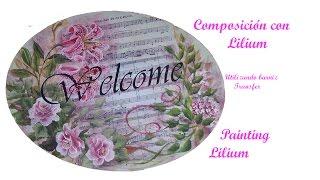 getlinkyoutube.com-Composición con Lilium, composition with lilies
