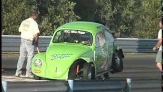 getlinkyoutube.com-VW Drag Racing Crash - Ken Cervone at Sac