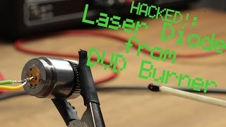 getlinkyoutube.com-HACKED!: Laser Diode from DVD Burner || Constant Current Source