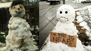 getlinkyoutube.com-Worst Snowmen Ever!