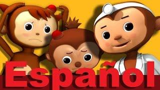 getlinkyoutube.com-Cinco monitos Parte 2 | Canciones infantiles | LittleBabyBum