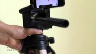 getlinkyoutube.com-فكرة لتثبيت الآيفون على الحامل الثلاثي Simple iPhone Tripod