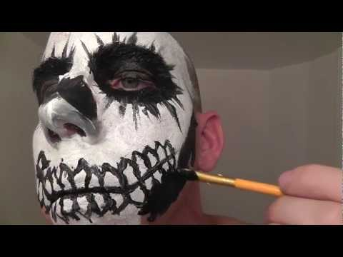 Skull Face Painting Makeup Tutorial &amp; Role Play for ASMR and Relaxation