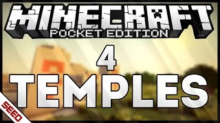 4 TEMPLES AT SPAWN! MINECRAFT PE - SEED