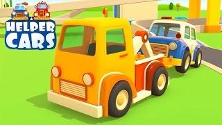 getlinkyoutube.com-NUOVO! Helper cars: camion e macchine in una sfida ad alta velocità! 🚗 cartoni animati per bambini