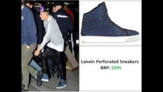 Justin Bieber Shoe/Footwear Collection, 2013 Updated video!