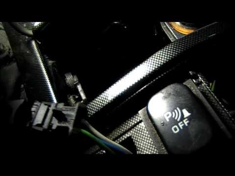 Пежо 607 замена тросов ручника/Peugeot 607 Replacement of handbrake cables