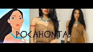getlinkyoutube.com-Disney Pocahontas Inspired Halloween Tutorial |DIY Necklace|  CillasMakeup88