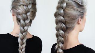getlinkyoutube.com-Braiding Styles - Three Strand Braid