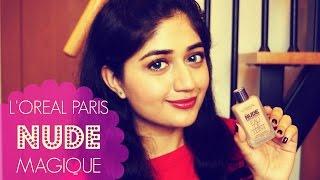 getlinkyoutube.com-L'Oreal Paris Nude Magique Foundation Review + Demo | corallista