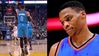 getlinkyoutube.com-Russell Westbrook Was SHAQTIN' with 6-Step Traveling Violation vs Warriors
