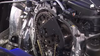 getlinkyoutube.com-Mercedes-Benz Engine OM626 Timing Chain Replacement