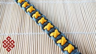 getlinkyoutube.com-How to Make the XOXO Bar Paracord Bracelet Tutorial