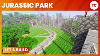 Let's Build Jurassic Park! - Ep 9 TREX Paddock! - Minecraft PC