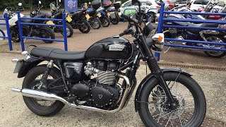 getlinkyoutube.com-2015 Triumph Bonneville T100 Black Test Ride & Review