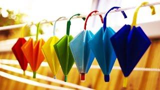 getlinkyoutube.com-How to make paper  umbrella origami