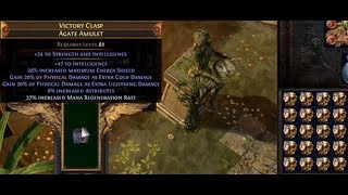 Triple T1 Prefix 40% Phys Added As Elemental Damage Shaped Amulet VS 200 Ex (Victory Clasp) | Demi