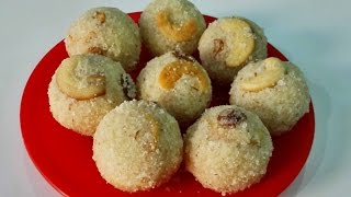 getlinkyoutube.com-Rava Laddu (Suji), Indian Dessert Recipe by Priya