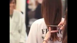 getlinkyoutube.com-haircut on  brunette long to pixie cut