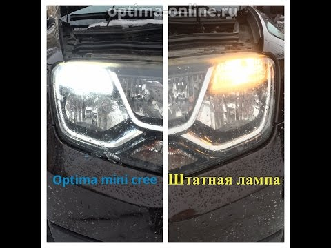 Светодиодная лампа Optima Premium OP-7443 MINI CREE XB-D в Renault Duster 2
