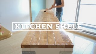 getlinkyoutube.com-[DIY] キッチンの棚を作ってみた!その4 ☆ Making Long Kitchen Shelf #4