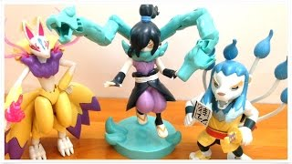 getlinkyoutube.com-YO-KAI WATCH OROCHI KYUUBI MANOJISHI  Plastic Model Kit Toy Unboxing Review