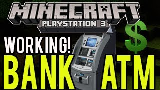 getlinkyoutube.com-Minecraft Playstation - Working Bank and ATM! (Redstone Creation) PS3/PS4