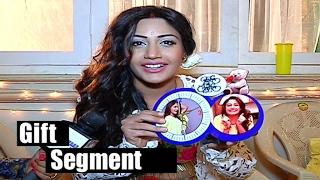 getlinkyoutube.com-Surbhi Chandana Gift Segment | Ishqbaaz | Telly bytes