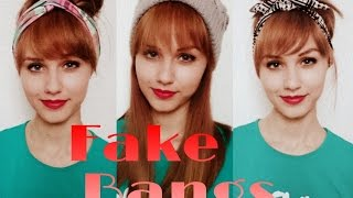 getlinkyoutube.com-How to: Fake Bangs without cutting/adding any hair   Stella
