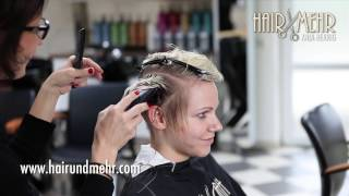 getlinkyoutube.com-short pixie haircut, undercut extreme hair makeover & dying blonde by Anja Herrig