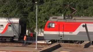 getlinkyoutube.com-Оборот поезда №375/376 Гомель — Адлер — Гомель на ст. Якорная Щель