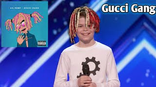 Kid dances to Gucci Gang on America's got talent! width=