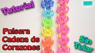 getlinkyoutube.com-♥ Tutorial: Pulsera Cadena de Corazones de gomitas (sin telar) ♥