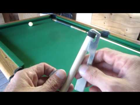 Replace a Pool Cue Tip with a Kamui tip.
