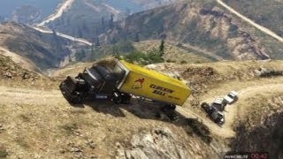 getlinkyoutube.com-GTA 5 TRAILER TRUCK TERROR OFFROAD