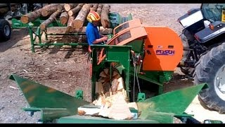 getlinkyoutube.com-Posch Spaltfix S-360 firewood processor from Jas P Wilson