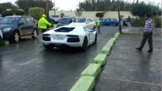 getlinkyoutube.com-Lamborghini Aventador Start Up and Rev In Morocco
