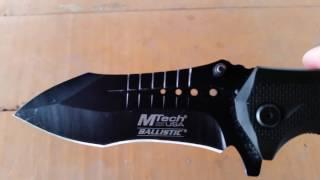 getlinkyoutube.com-EDC Knife: Mtech Rescue Modified Tanto Spring Assisted Knife