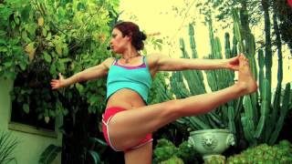 getlinkyoutube.com-AK111 Coffee Cup 4 Interval Yoga Bootcamp Power Level 1 2 3 Class Weight Loss