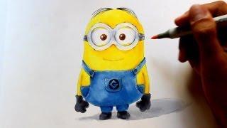 getlinkyoutube.com-Wie zeichnet man Minions in 3D Optik [Ich einfach unverbesserlich] zeichen tutorial