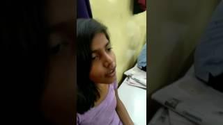 Indian Girl Headshave in Barbershop Live