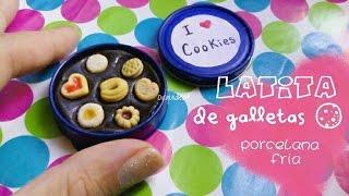getlinkyoutube.com-Latita de galletas miniatura PORCELANA FRIA