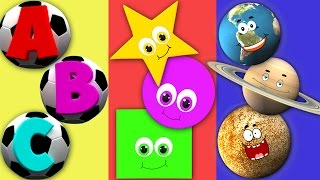 getlinkyoutube.com-ABC Song For Children | Shapes Song For Kids | Planets Nursery Rhyme For Toddlers