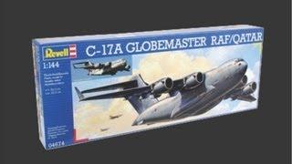 getlinkyoutube.com-Revell 1/144 C-17A Globemaster Scale Model Review