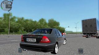 getlinkyoutube.com-City Car Driving 1.5.3 Mercedes C32 AMG Autobahn   Street Racing [G27]