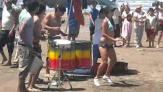 getlinkyoutube.com-Batucada en Playa Novillero, Tecuala, Nayarit, Mex.