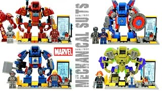 getlinkyoutube.com-Iron Man Captain America Thor & Hulk  Bruce Banner Mechanical Suit & Laboratory Unofficial LEGO Set