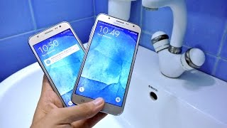getlinkyoutube.com-Samsung Galaxy J7 vs J5 - Water Test HD