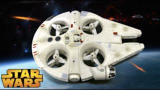 getlinkyoutube.com-Star Wars Millennium Falcon RC Quad from Spin Master