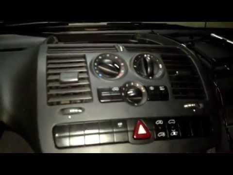 Печка, вентилятор, резистор, переключатель и панель климата на Mercedes-Benz Vito 639 (111).